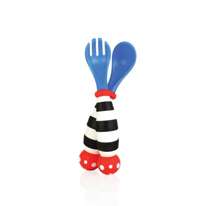 Imagen de Tenedor y cuchara de suave agarre
