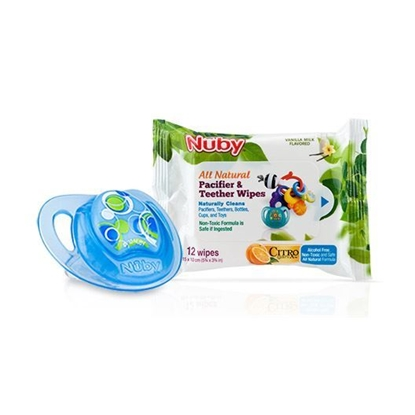 Picture of Oval Pacifier with 12pk wipes